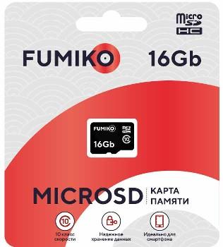 MicroSD 16GB FUMIKO Class...